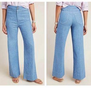 Pilcro and the Letterpress Wide Leg Trouser Jeans